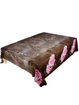 Fragrant Pink Rose Print 3D Flat Sheet