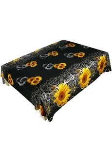 Attractive 3D Sunflower Printed Cotton Flat Sheet