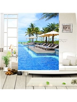 Leisure Holiday at the Seaside Printing Blackout 3D Roller Shades