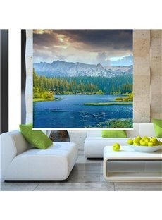 Beautiful Nature Scenery Mountain and Lake Printing Blackout 3D Roller Shades