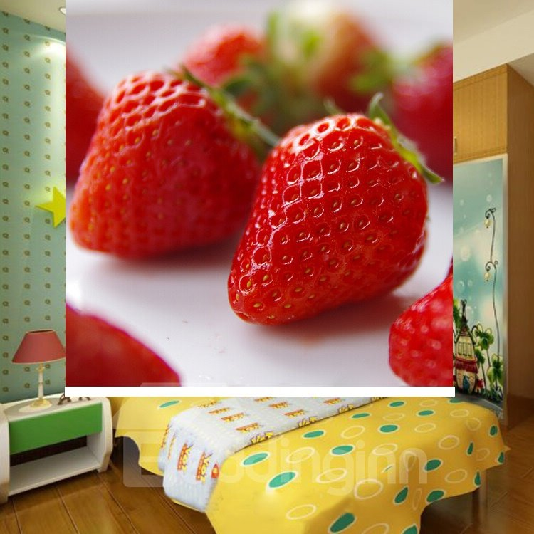 Delicious Strawberry Printing Blackout 3D Roller Shades