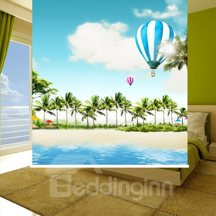 Vacation Time Beach and Balloon Printing Blackout 3D Roller Shades