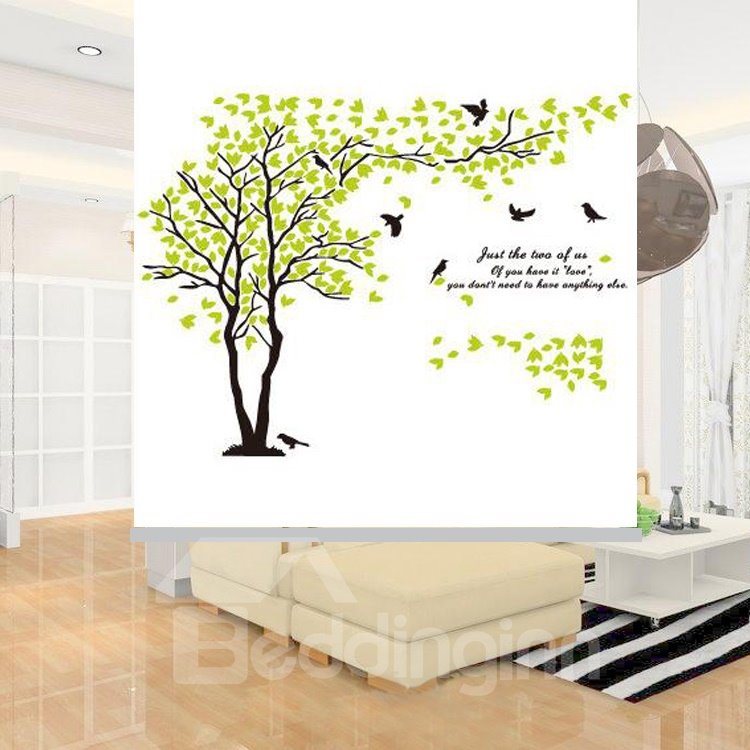 Concise Hand Painted Tree Printing Blackout 3D Roller Shades