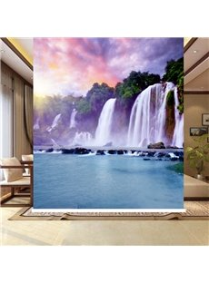 Splendid Nature Scenery Waterfall Printing Blackout 3D Roller Shades