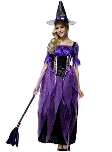 Magic Purple Fairy With Magical Spell Stick Style Cosplay Costumes