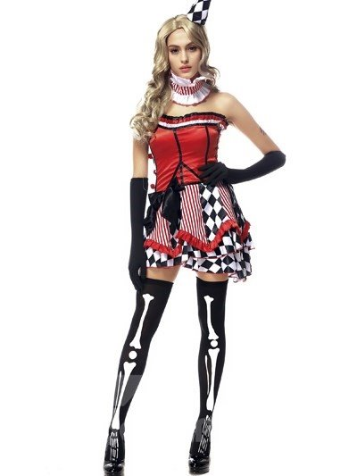 Modern Colorful Girl Design With Special Hat Popular Cosplay Costumes