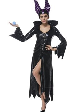 Magic Witch With Special Weapon And Unique Ox Horn Cosplay Costumes