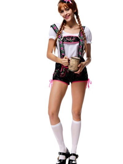 Bright And Sweet Beautiful Beer Girl Design Attractive Cosplay Costumes