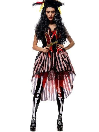 The Evil Witch With Props Gun Fashional Cosplay Costumes