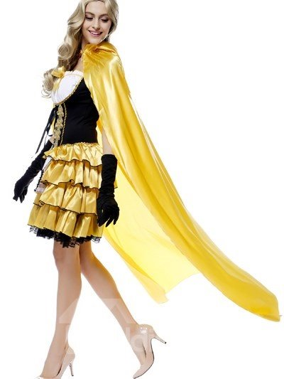 Elegant Princess Modeling With Cool Cloak Creative Cosplay Costumes