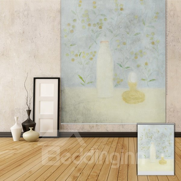 Elegant Oil Painting Flowers Printing Blackout 3D Roller Shades