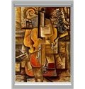 Modern Abstract Violin Printing Blackout 3D Roller Shades