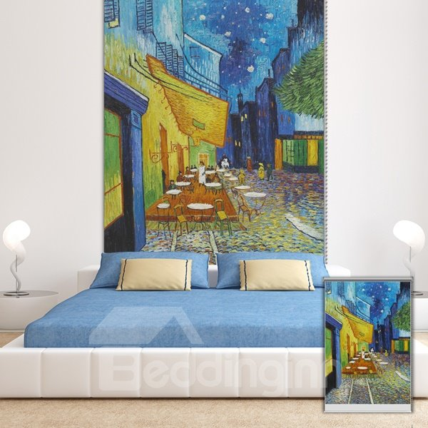 Oil Painting The Night Cafe Printing Blackout 3D Roller Shades