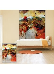 Flowery Abstract Oil Painting Printing Blackout 3D Roller Shades