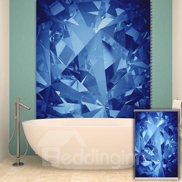 Modern Blue Diamond Printing Blackout 3D Roller Shades