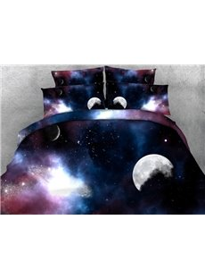 Dreamy 3D Galaxy Print 5-Piece Comforter Sets