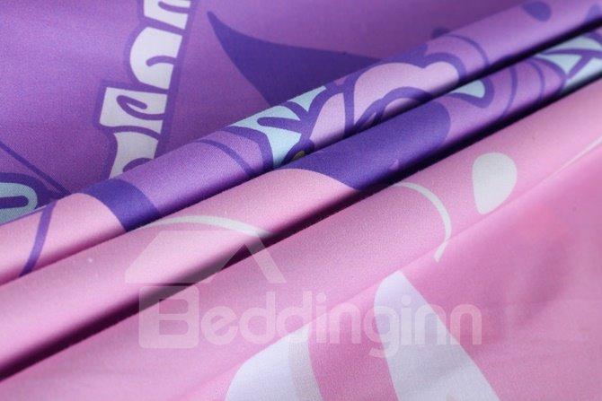 Princess Sisi Pattern Kids Cotton 4-Piece Duvet Cover Sets