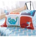 Jurassic Period World Pattern Kids Cotton 4-Piece Duvet Cover Sets