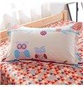 Lovely Cartoon Owls Pattern Kids Cotton 4-Piece Duvet Cover Sets
