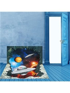Amusing Creative Universe Scenery Pattern Home Decoration 3D Floor Stickers