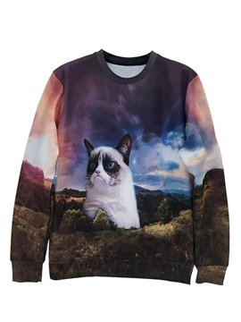 Lovely Long Sleeve Dog Pattern 3D Painted Hoodie