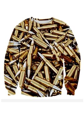 Cool Long Sleeve Bullet Pattern 3D Painted Hoodie