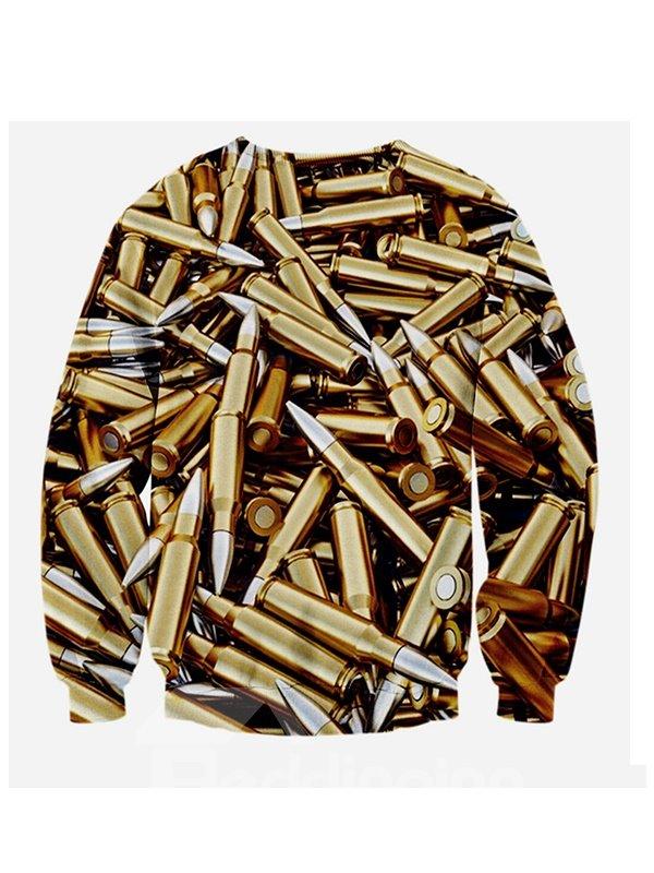 Cool Long Sleeve Bullet Pattern 3D Painted Hoodie