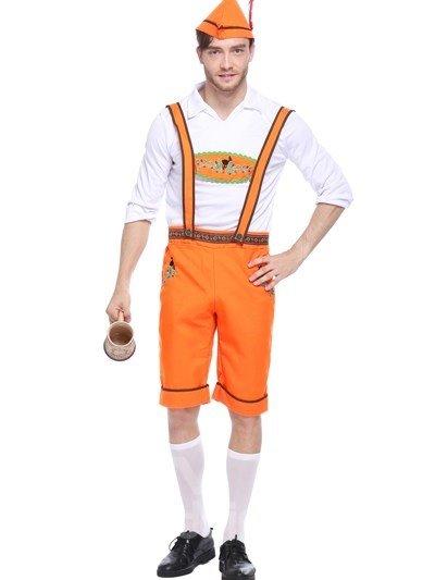 Bright Orange Color Beer Boy Modeling Cosplay Costumes
