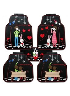 Beautiful Fairy Tale Lovers Pattern Practical Universal Car Carpet