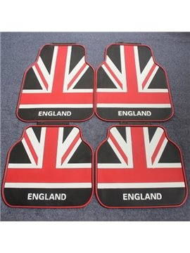 Flag Of England Union Jack Style Slip Waterproof Universal Car Carpet