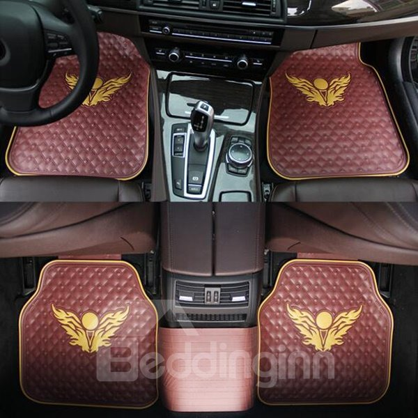 Fashion Eagle Wings Totem Eco-Friendly Material Universal Car Carpet