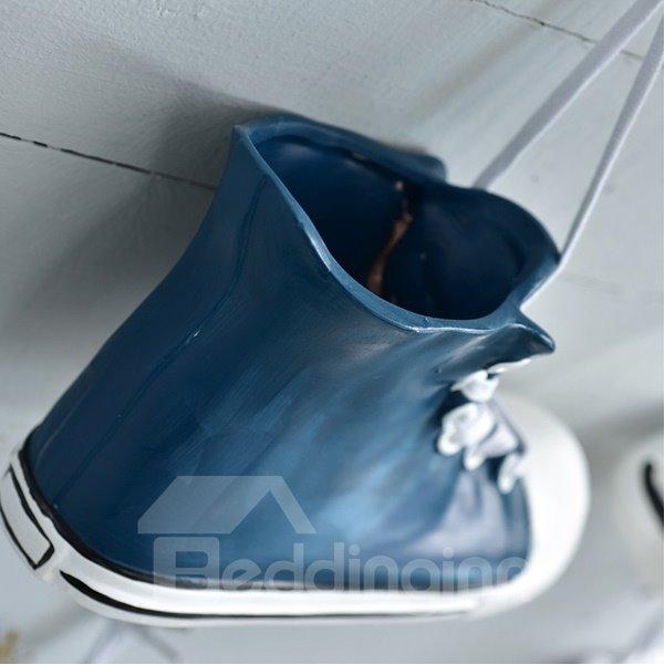 Amazing Creative Ceramic Shoes Shape Flower Vase 3D Wall Decor