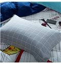 Minimalist Style Fashion Girl Print 4-Piece Cotton Duvet Cover Sets