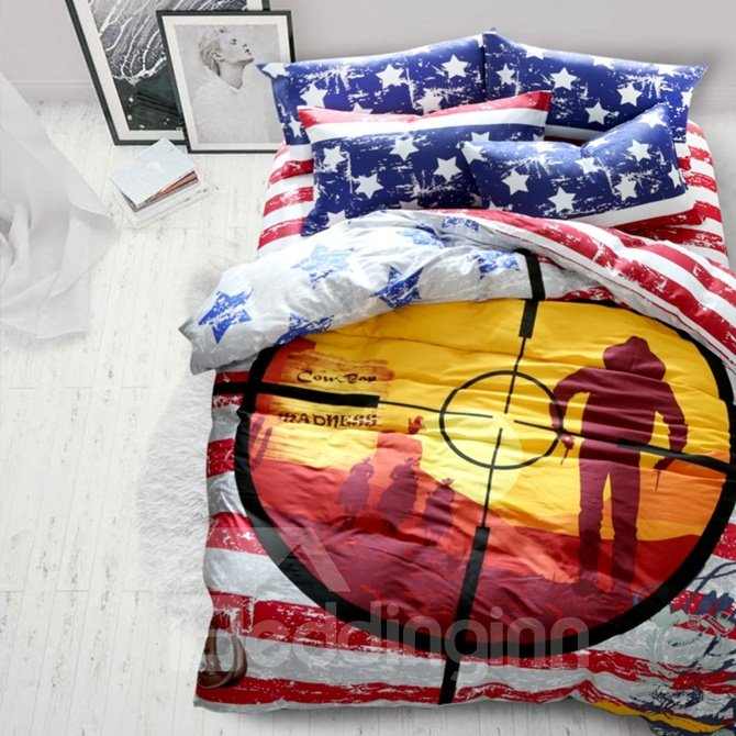 Field of View Telescope Design 4-Piece Cotton Duvet Cover Sets
