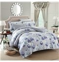 Wonderful Fresh Flower Print 4-Piece Duvet Cover Sets