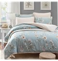 Pastoral Style Fresh Flower Print 4-Piece Duvet Cover Sets