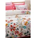 Watercolor-style Floret Print 4-Piece Duvet Cover Sets