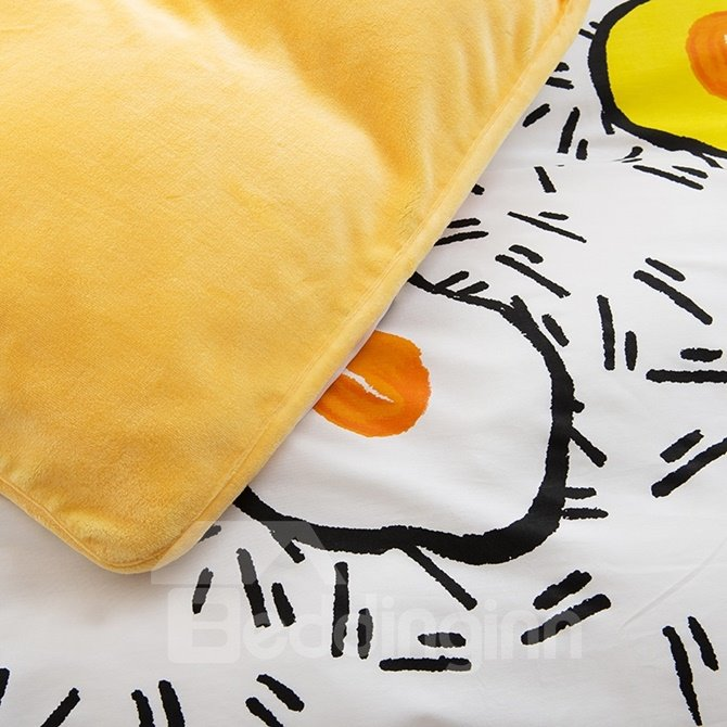 Funny Omelet Print 4-Piece Duvet Cover Sets