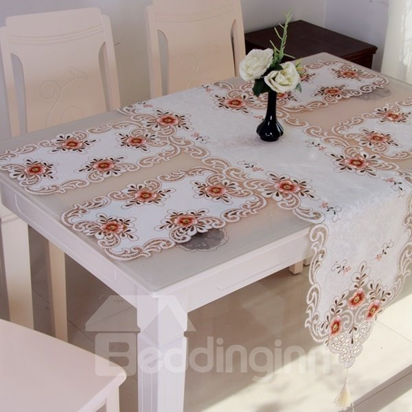 Modern Fashion Polyester Embroidery Flower Crochet Dining  : 124444382 from www.beddinginn.com size 600 x 600 jpeg 51kB