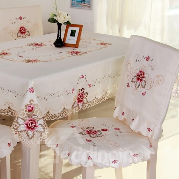 Delicate Rectangle Embroidery Flower Lace Pattern Dining  : 124444664 from www.beddinginn.com size 600 x 600 jpeg 47kB