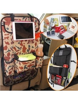 High Capacity And Foldable Multi-Pocket Multifunction Backseat Organizer