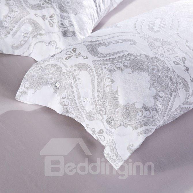 Comfy OgeePrint 4-Piece Cotton Duvet Cover Sets
