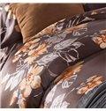 Pastoral Style Floral Print Long-staple Cotton 4-Piece Duvet Cover Sets