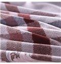 European Style Plaid Print 4-Piece Cotton Duvet Cover Sets