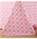 Stylish Pink Damask Print 4-Piece Cotton Duvet Cover Sets