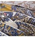 Luxury and Elegant Paisley Print 4-Piece Cotton Duvet Cover Sets