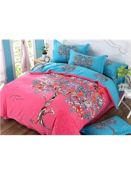 Creative Tree Design 4-Piece Cotton Duvet Cover Sets