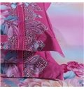 Chic and Sophisticated Peony Print 4-Piece Cotton Duvet Cover Sets