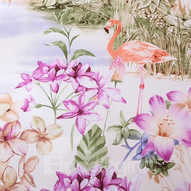 Exquisite Pastoral Blooms Print 4-Piece Cotton Duvet Cover Sets