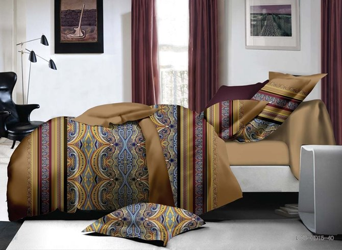 Fancy Retro Style 4-Piece Polyester Duvet Cover Sets
